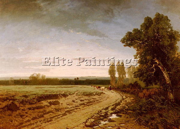 ALBERTO PASINI GOING TO THE PASTURE EARLY MORNING ARTIST PAINTING REPRODUCTION