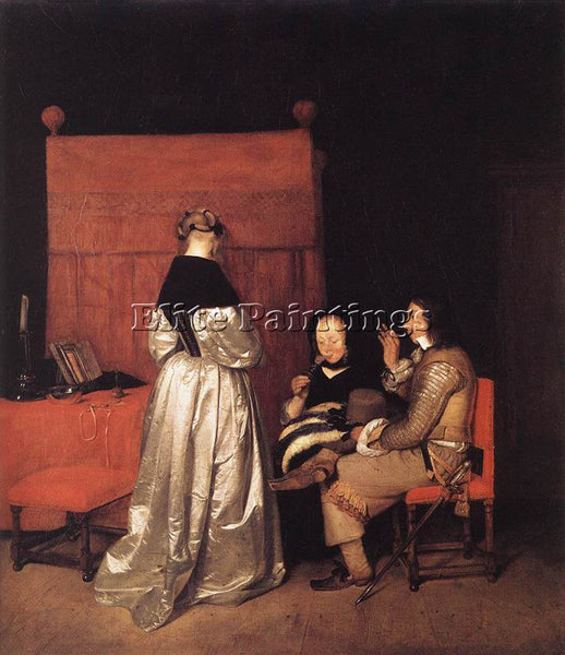 GERARD TER BORCH PATERNAL ADMONITION ARTIST PAINTING REPRODUCTION HANDMADE OIL
