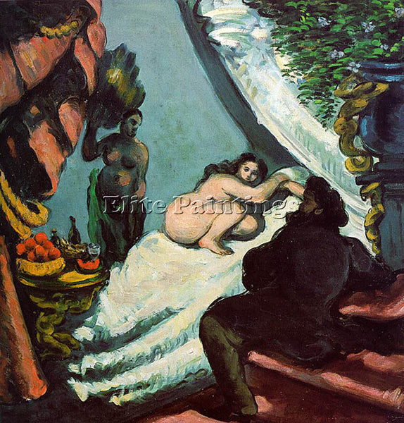 PAUL CEZANNE CEZA58 ARTIST PAINTING REPRODUCTION HANDMADE CANVAS REPRO WALL DECO