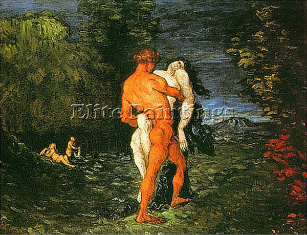 PAUL CEZANNE  ABDUCTION ARTIST PAINTING REPRODUCTION HANDMADE CANVAS REPRO WALL