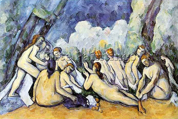 PAUL CEZANNE  GRANDI BAGNANTI  ARTIST PAINTING REPRODUCTION HANDMADE OIL CANVAS