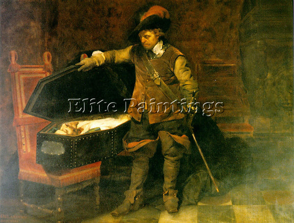 PAUL DELAROCHE CROMWELL AND CHARLES I 1831 ARTIST PAINTING REPRODUCTION HANDMADE
