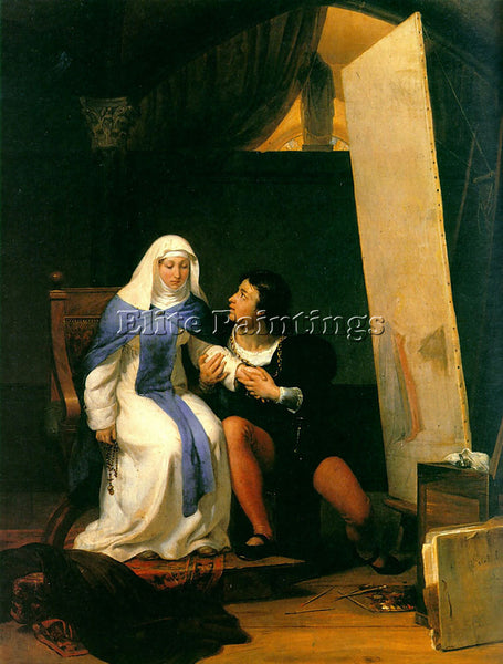 PAUL DELAROCHE FILIPPO LIPPO FALLING IN LOVE WITH HIS MODEL 1822 ARTIST PAINTING