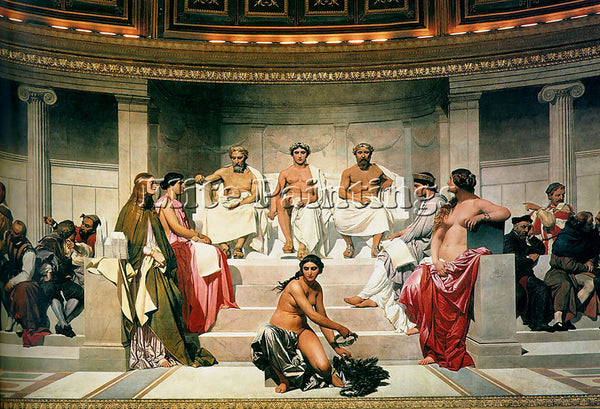 PAUL DELAROCHE HEMICYCLE OF THE ECOLE DES BEAUX ARTS 1814 CENTRE ARTIST PAINTING