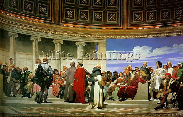 PAUL DELAROCHE HEMICYCLE OF THE ECOLE DES BEAUX ARTS 1814 RIGHT ARTIST PAINTING