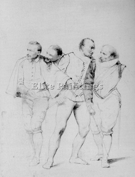 PAUL DELAROCHE PENCIL STUDY1 ARTIST PAINTING REPRODUCTION HANDMADE CANVAS REPRO