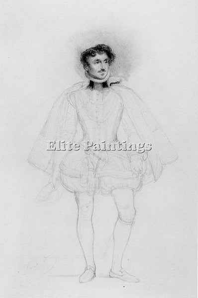 PAUL DELAROCHE PENCIL STUDY ARTIST PAINTING REPRODUCTION HANDMADE OIL CANVAS ART