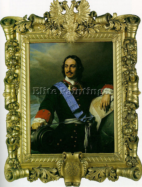 PAUL DELAROCHE PETER THE GREAT OF RUSSIA 1838 ARTIST PAINTING REPRODUCTION OIL