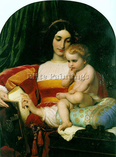PAUL DELAROCHE THE CHILDHOOD OF PICO DELLA MIRANDOLA 1842 ARTIST PAINTING CANVAS