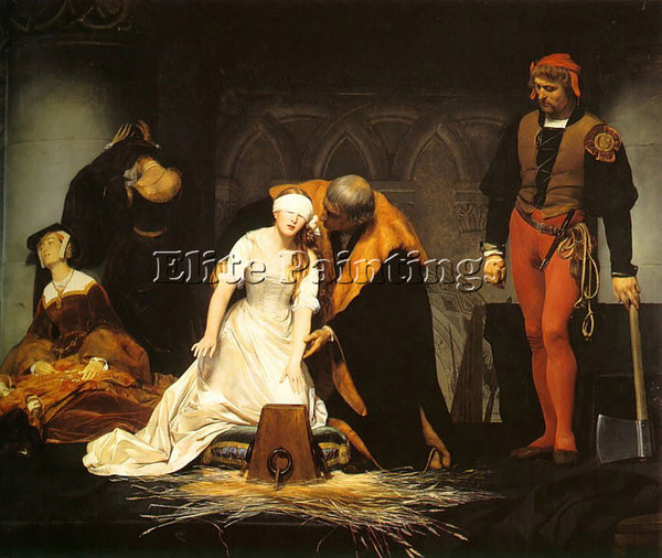 PAUL DELAROCHE THE EXECUTION OF LADY JANE GREY 1834 ARTIST PAINTING REPRODUCTION