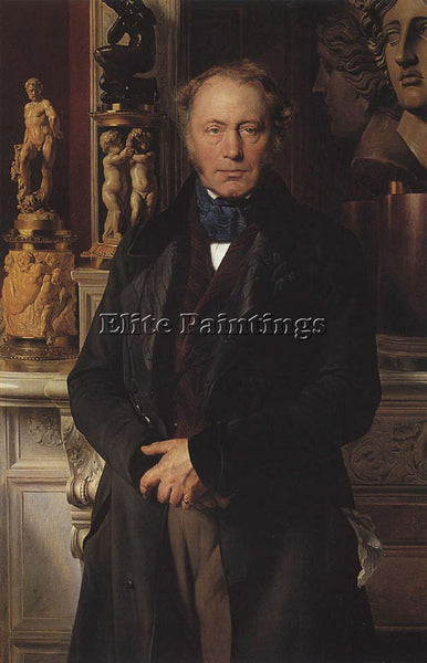 PAUL DELAROCHE COMTE PORTRAIT ARTIST PAINTING REPRODUCTION HANDMADE CANVAS REPRO