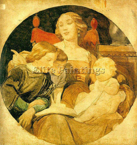 PAUL DELAROCHE FAMILY SCENE ARTIST PAINTING REPRODUCTION HANDMADE OIL CANVAS ART