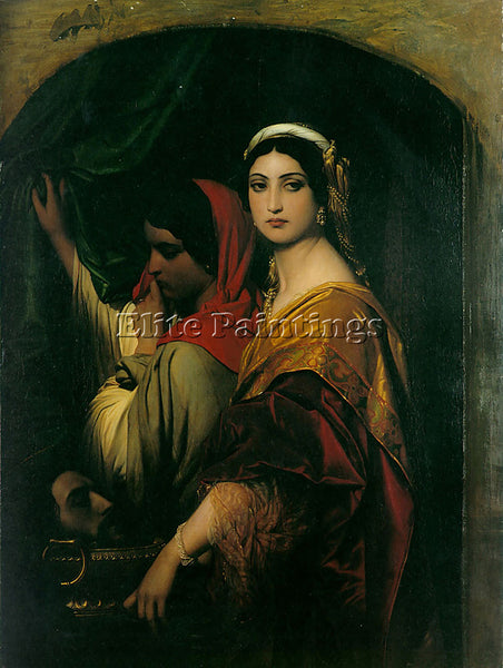 PAUL DELAROCHE HERODIAS 1843 ARTIST PAINTING REPRODUCTION HANDMADE CANVAS REPRO