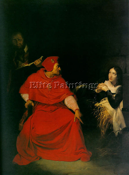PAUL DELAROCHE JOAN OF ARC IN PRISON 1824 ARTIST PAINTING REPRODUCTION HANDMADE