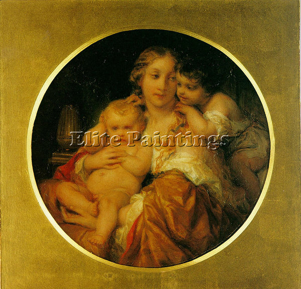 PAUL DELAROCHE MOTHER AND CHILD ARTIST PAINTING REPRODUCTION HANDMADE OIL CANVAS
