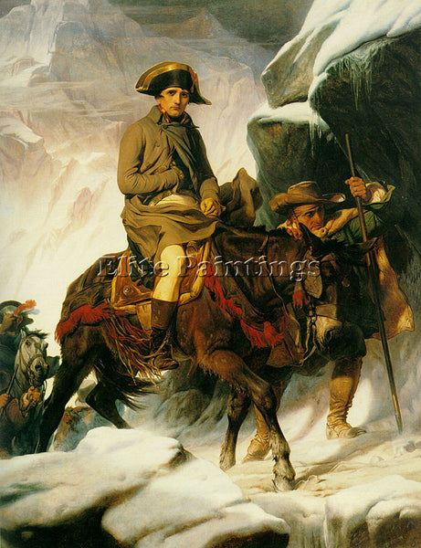 PAUL DELAROCHE NAPOLEAN CROSSING THE ALPS 1850 ARTIST PAINTING REPRODUCTION OIL