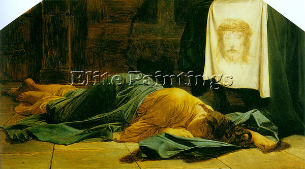 PAUL DELAROCHE SAINT VERONICA C1865 ARTIST PAINTING REPRODUCTION HANDMADE OIL