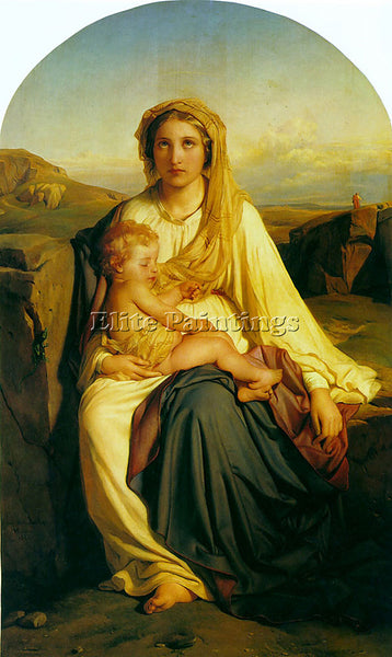 PAUL DELAROCHE VIRGIN AND CHILD 1844 ARTIST PAINTING REPRODUCTION HANDMADE OIL