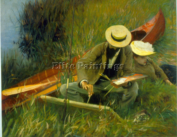 SARGENT PAUL HELIEU BY SARGENT ARTIST PAINTING REPRODUCTION HANDMADE OIL CANVAS