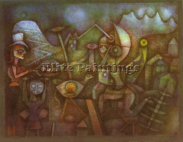 PAUL KLEE KLEE3 ARTIST PAINTING REPRODUCTION HANDMADE CANVAS REPRO WALL  DECO