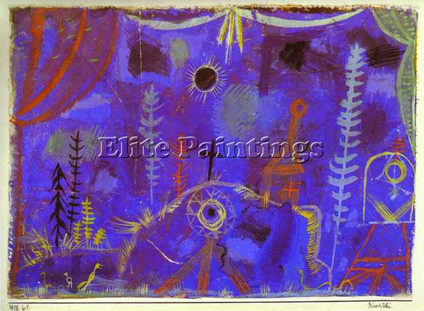 PAUL KLEE KLEE18 ARTIST PAINTING REPRODUCTION HANDMADE OIL CANVAS REPRO WALL ART