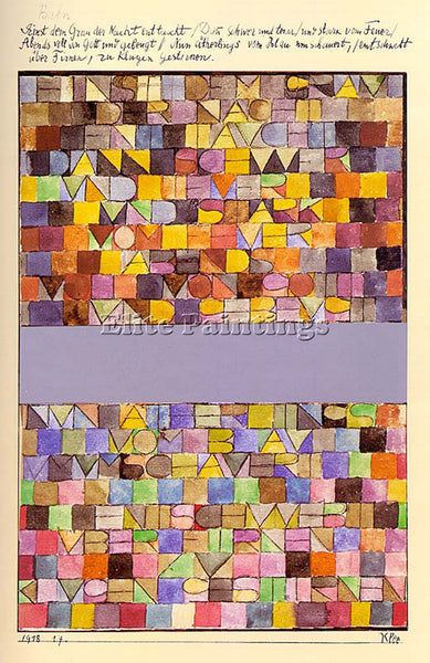 PAUL KLEE KLEE53 ARTIST PAINTING REPRODUCTION HANDMADE OIL CANVAS REPRO WALL ART