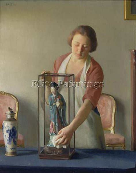 WILLIAM MCGREGOR PAXTON THE FIGURINE ARTIST PAINTING REPRODUCTION HANDMADE OIL