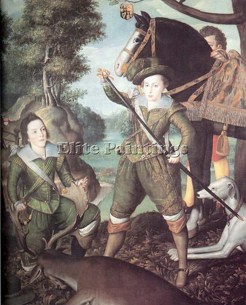 BRITISH PEAKE ROBERT THE ELDER ENGLISH APPROX 1551 1626 2 ARTIST PAINTING CANVAS