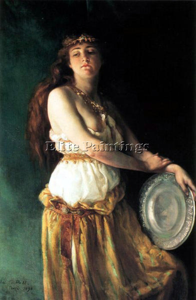 AMERICAN PELL ELLA FERRIS 1846 TO 1922 SALOME 51 BY 38IN ARTIST PAINTING CANVAS