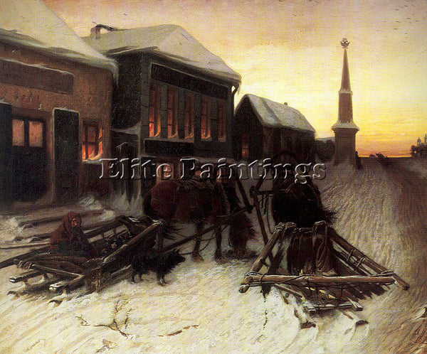 RUSSIAN PEROV VASILY RUSSIAN 1834 1882 2 ARTIST PAINTING REPRODUCTION HANDMADE