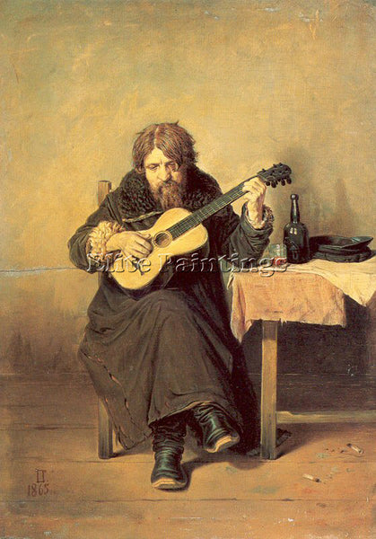 RUSSIAN PEROV VASILY RUSSIAN 1834 1882 ARTIST PAINTING REPRODUCTION HANDMADE OIL