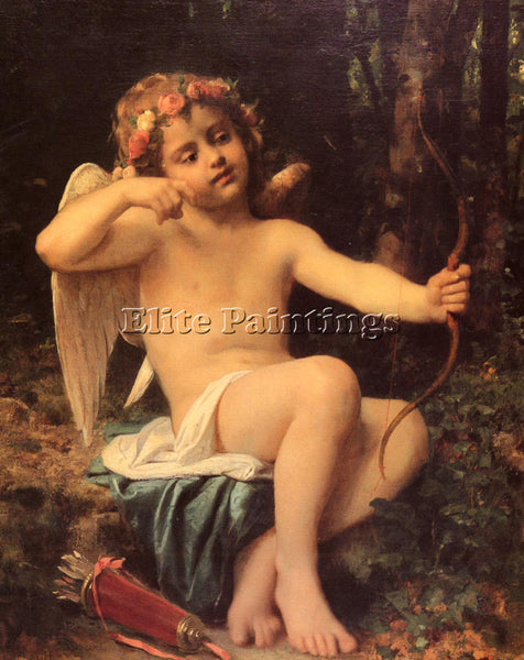 BAZILE PERRAULT LEON JEAN BASILE CUPIDS ARROWS ARTIST PAINTING REPRODUCTION OIL