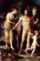 RAFFAELLO PERSEUS AND ANDROMEDAR BY RAPHAEL ARTIST PAINTING HANDMADE OIL CANVAS