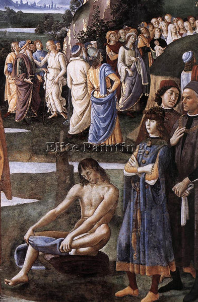 PIETRO PERUGINO BAPTISM OF CHRIST C1483 DETAIL2 ARTIST PAINTING REPRODUCTION OIL