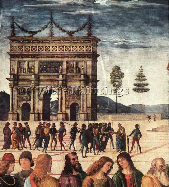 PIETRO PERUGINO CHRIST HANDING THE KEYS TO ST PETER 1481 2 DETAIL2 REPRODUCTION