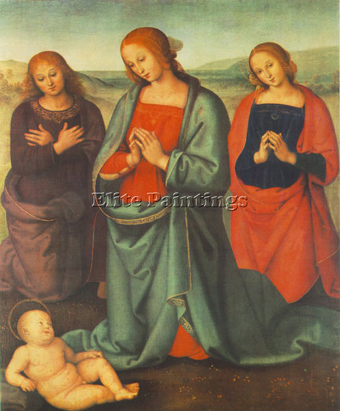 PIETRO PERUGINO MADONNA WITH SAINTS ADORING THE CHILD 1503 ARTIST PAINTING REPRO