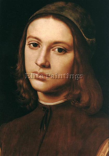 PIETRO PERUGINO PORTRAIT OF A YOUNG MAN DETAIL 1495 ARTIST PAINTING REPRODUCTION