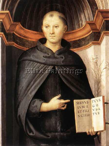 PIETRO PERUGINO ST NICHOLAS OF TOLENTINO 1507 ARTIST PAINTING REPRODUCTION OIL