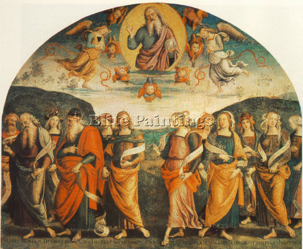 PIETRO PERUGINO THE ALMIGHTY WITH PROPHETS AND SYBILS 1500 ARTIST PAINTING REPRO