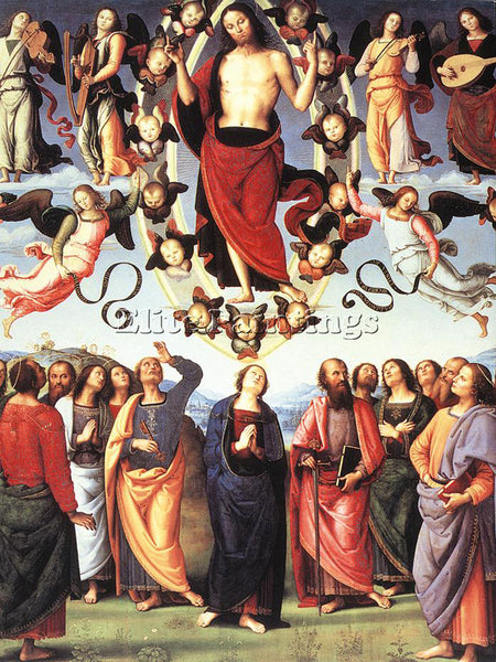 PIETRO PERUGINO THE ASCENSION OF CHRIST ARTIST PAINTING REPRODUCTION HANDMADE