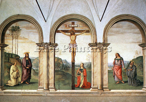 PIETRO PERUGINO THE PAZZI CRUCIFIXION ARTIST PAINTING REPRODUCTION HANDMADE OIL