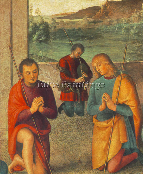 PIETRO PERUGINO THE PRESEPIO 1498 DETAIL1 ARTIST PAINTING REPRODUCTION HANDMADE