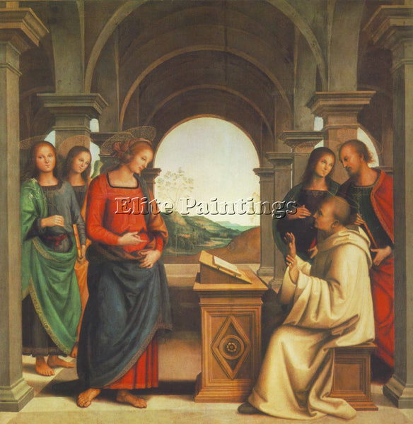 PIETRO PERUGINO THE VISION OF ST BERNARD 1493 ARTIST PAINTING REPRODUCTION OIL