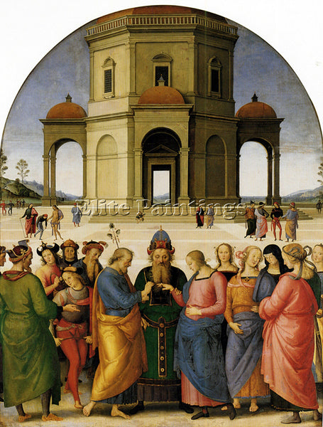 PIETRO PERUGINO THE BETROTHAL OF THE VIRGIN ARTIST PAINTING HANDMADE OIL CANVAS