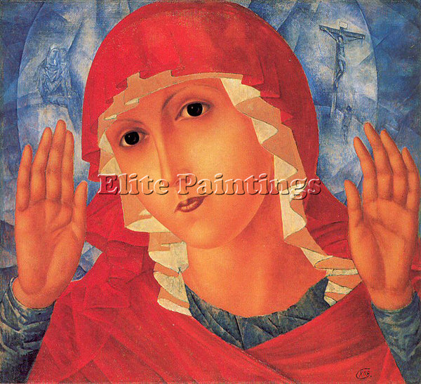 RUSSIAN PETROV VODKIN KOZMA RUSSIAN 1878 1939 2 ARTIST PAINTING REPRODUCTION OIL
