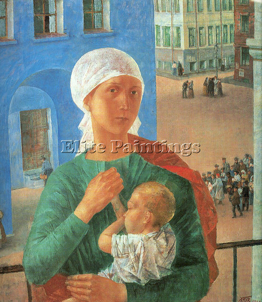 RUSSIAN PETROV VODKIN KOZMA RUSSIAN 1878 1939 3 ARTIST PAINTING REPRODUCTION OIL