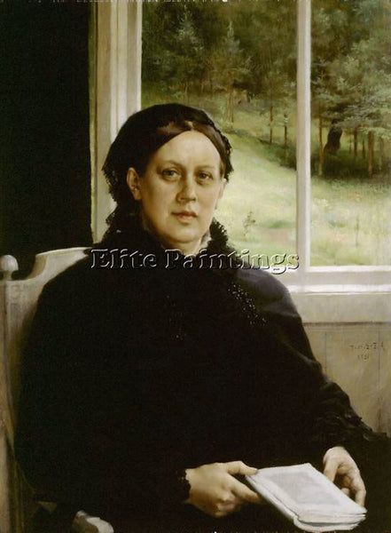 ALBERT EDELFELT PICTURE OF THE MOTHER OF THE ARTIST NNL ARTIST PAINTING HANDMADE