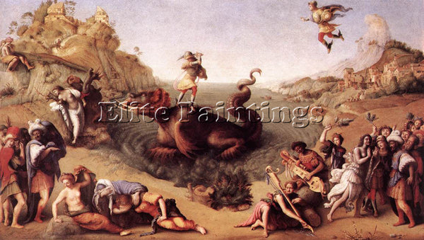 PIERO DI COSIMO PERSEUS FREES ANDROMEDA C1515 ARTIST PAINTING REPRODUCTION OIL