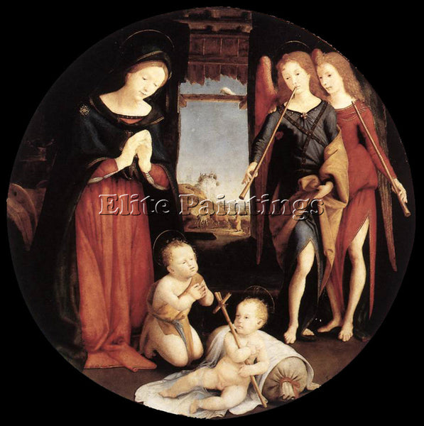 PIERO DI COSIMO THE ADORATION OF THE CHRIST CHILD 1505 ARTIST PAINTING HANDMADE