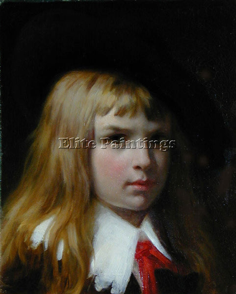 PIERRE-AUGUSTE COT A LITTLE LORD FLAUNTELROY ARTIST PAINTING HANDMADE OIL CANVAS